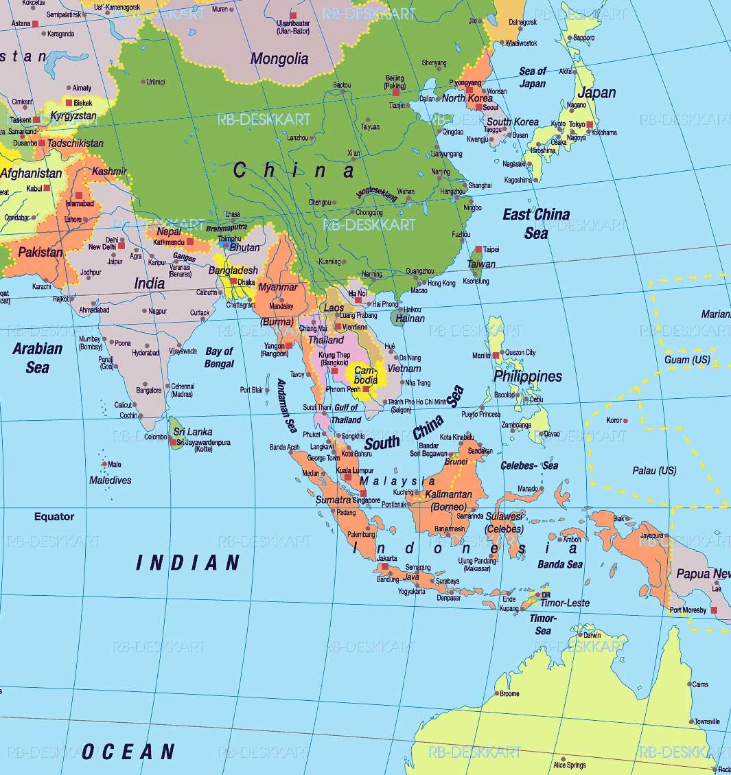 Malaysia farbig unterlegt singapur ist ein eigener stadtstaat beim